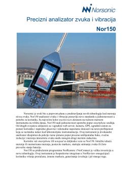 """""""Precizni analizator zvuka i vibracija Nor150"""" Fajl"""