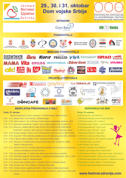program festivala - Dom zdravlja Stari Grad