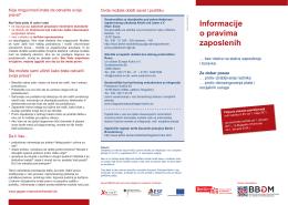 Informacije o pravima zaposlenih