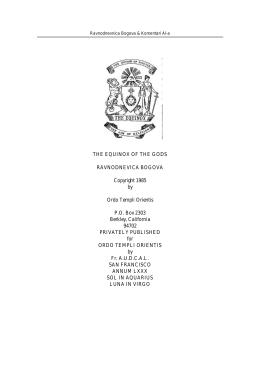 Ekvinoks Bogova i sabrani komentari Knjige Zakona