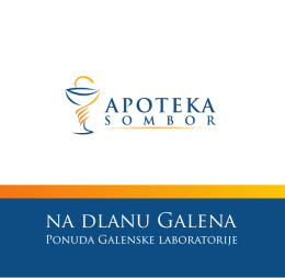 na dlanu Galena - Apoteka Sombor