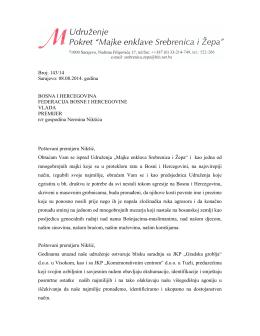 Otvoreno pismo premijeru Federacije BiH, Nerminu Nikšiću