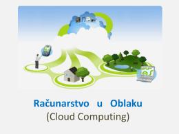 Računarstvo u oblaku (Cloud Computing)