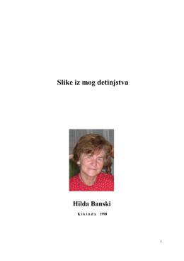 Slike iz mog detinjstva Hilda Banski
