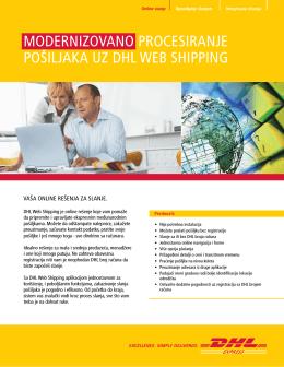 modernizovano procesiranje pošiljaka uz dhl web shipping