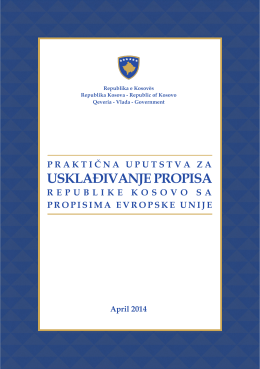 Praktična uputstva za usklađivanje propisa Republike Kosovo sa