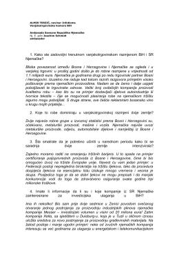 """""""InfoKom"""" (05.11.2009) Intervju ambasadora za magazin"""