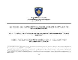 Rregullore QRK Nr. 17/2014 - Agjencia e Ushqimit dhe Veterinarisë