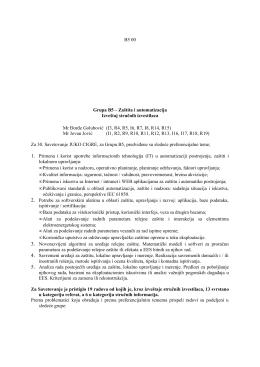 B5 00 Za 30. Savetovanje JUKO CIGRE, za Grupu B5, predviđene