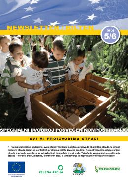 Newsletter/Bilten - Specijalni dvobroj posvećen kompostiranju