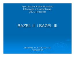 Doc. dr Halil Kalač – BazelII i BazelIII