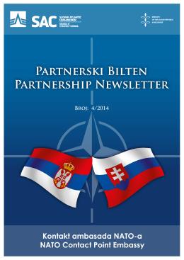 Partnerski Bilten Partnership Newsletter Kontakt ambasada NATO