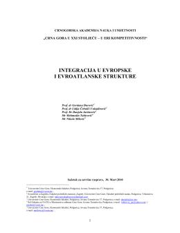 crna gora u xxi stoljeću – u eri kompetitivnosti