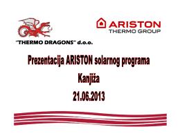 Prezentacija Ariston solarnog programa Kanjiža 21.06.2013