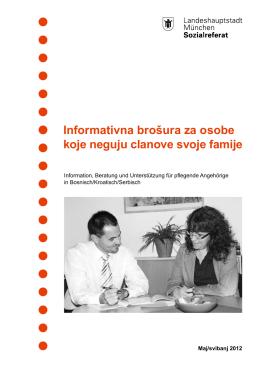 Informativna brošura za osobe koje neguju clanove svoje