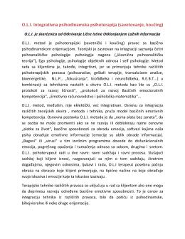 O.L.I. Integrativna psihodinamska psihoterapija (savetovanje, koučing)