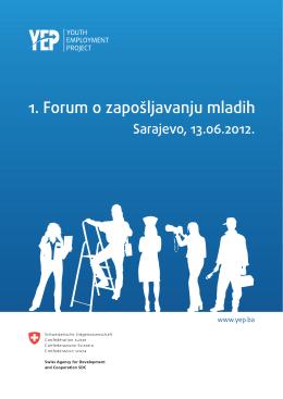 Bilten 1. Foruma o zapošljavanju mladih (Sarajevo, 13.6 - YEP-a