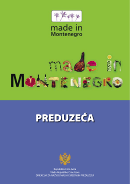Preduzeća Made in MN - Direkcija za razvoj malih i srednjih