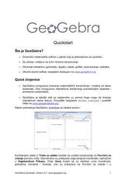 GeoGebra Quickstart