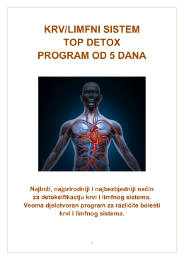 KRV/LIMFNI SISTEM TOP DETOX PROGRAM OD 5 DANA