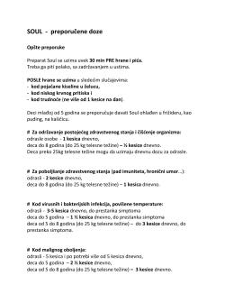 SOUL - preporučene doze