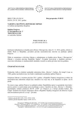 P-58/15 - Institucija ombudsmena/ombudsmana za ljudska prava