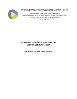 Preuzmi - Udruženje matematičara Tuzlanskog kantona