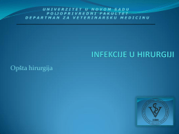 5. Infekcije u hirurgiji