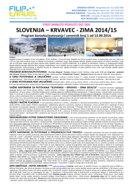 SLOVENIJA – KRVAVEC - ZIMA 2014/15