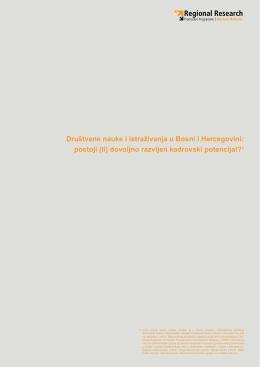 Društvene nauke i istraživanja u Bosni i Hercegovini: postoji
