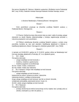 """""""Službene novine Federacije BiH"""", broj: 81/09"""