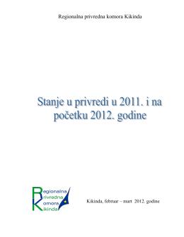 Stanje privrede u 2011. godini - Regionalna privredna komora Kikinda