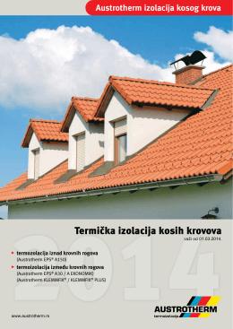 Austrotherm termička izolacija kosih krovova