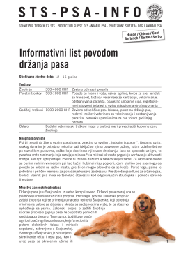 Hunde / Chiens / Cani - Serbisch / Serbe / Serbo
