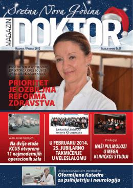 Doktor Decembar 2013 - Ljekarska Komora Kantona Sarajevo