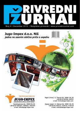 Broj 4 / Decembar 2013. / Besplatan primerak / www.privrednizurnal