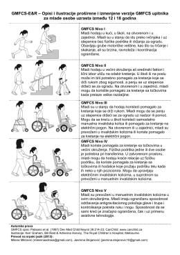 GMFCS-E&R – Opisi i ilustracije proširene i izmenjene