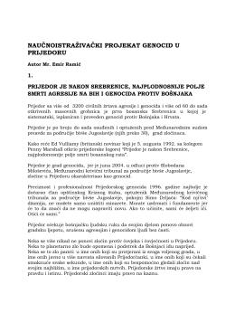 Više o genocidu u Prijedoru