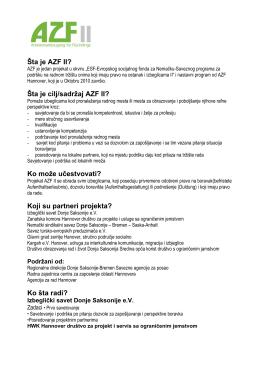 Šta je cilj/sadržaj AZF II? - AZF Hannover – Arbeitsmarktzugang für