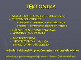 - STRUKTURA LITOSFERE (tektonosfere)