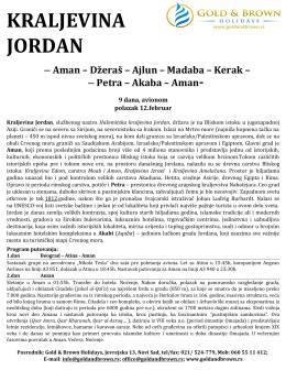 JORDAN -polazak 12.02.2015. – cenovnik