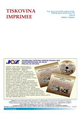 Jevrejski pregled br. 01 / januar 2011