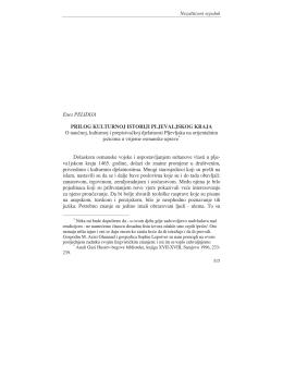 O naucnoj kulturnoj i prepisivackoj djelatnosti Pljevljakana