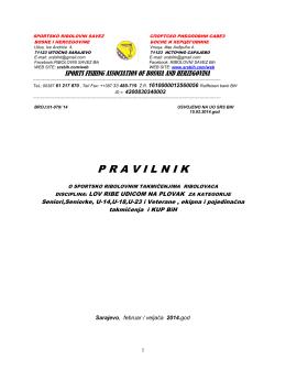 pravilnik plovak 2014 - Sportsko ribolovni savez Bosne i Hercegovine