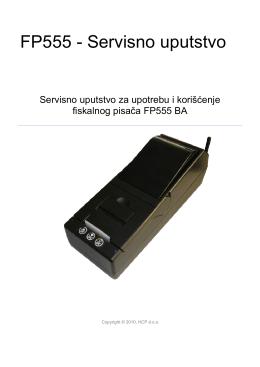 FP555 - Servisno uputstvo