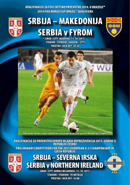 SRBIJA – MAKEDONIJA SERBIA v FYROM