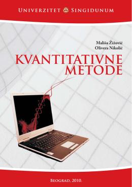 Kvantitativne metode.pdf - Seminarski i diplomski radovi
