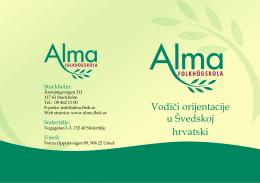 Vodiči orijentacije u Švedskoj hrvatski