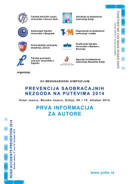 Prva informacija - Udruženje za bezbednost saobraćaja