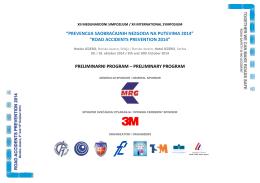 Program Simpozijuma - Udruženje za bezbednost saobraćaja